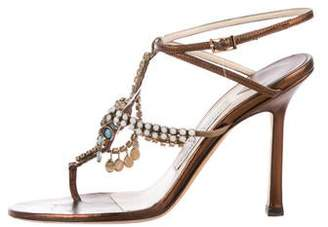 82dcb3cdd9f461 Pre-Owned at TheRealReal · Jimmy Choo Embellished Leather Sandals