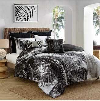 Caribbean Joe Cathay Home Inc. Palm 4-Piece Full Comforter Set Bedding