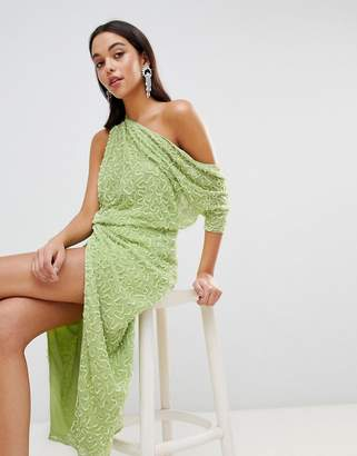 Asos Edition EDITION One Shoulder All Over Sequin Midi Dress