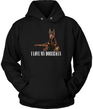 District Hoodies Doberman Hoodie. Perfect Gift for Your Dad, Mom, Boyfriend, Girlfriend, or Friend (M)