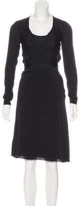 L'Agence Silk Tassel-Trimmed Dress