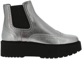 Hogan Flat Booties Shoes Women