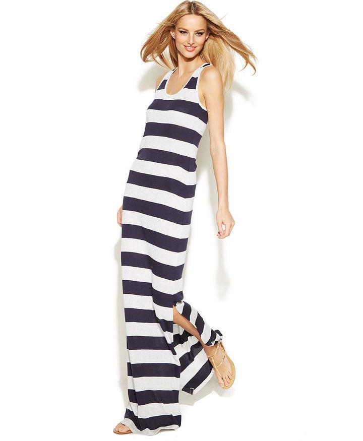 INC International Concepts Striped Racerback Maxi Dress