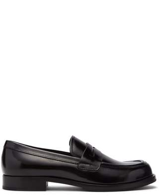 Prada - Leather Penny Loafers - Mens - Black