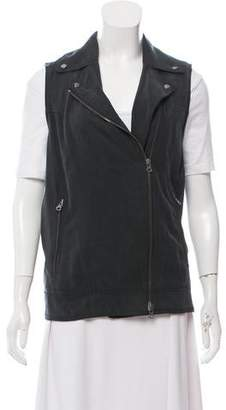Club Monaco Sleeveless Biker Jacket
