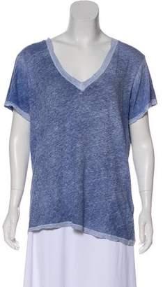 Current/Elliott Linen Blend Short Sleeve Top