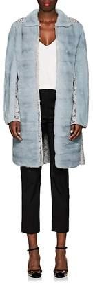 Valentino Women's Lace-Inset Mink Fur Coat