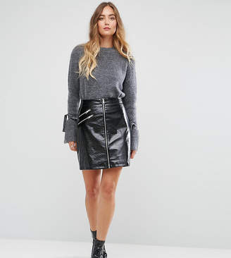 Vero Moda Tall Vinyl Mini Skirt