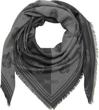 Kenzo Dark Grey Cotton and Modal Tiger Wrap