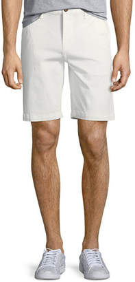 Paige Men's Thompson Cotton Twill Flat-Front Shorts