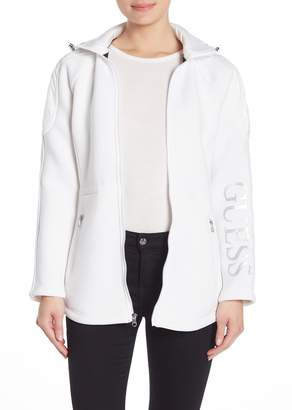 GUESS Hooded Front Zip Jacket