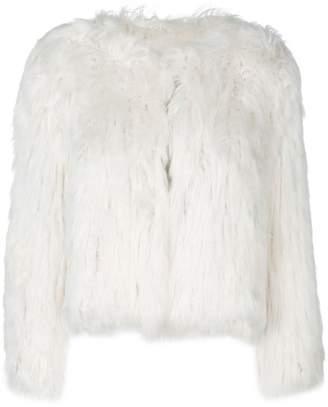 Maison Margiela cropped fur jacket