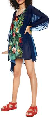 Desigual Psychotropical Sheer Coverup