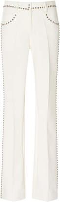 Giambattista Valli Mid Rise Stud Embellished Flared Pants