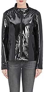 Stutterheim Raincoats RAINCOATS WOMEN'S OPAL MOTO RAINCOAT-BLACK SIZE XXXS