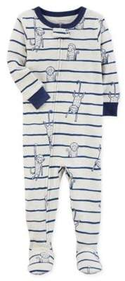 Monkey Snug-Fit Footed Pajama