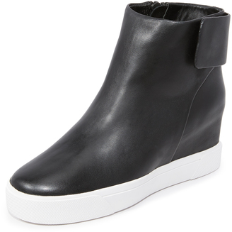 DKNY Cathy Wedge Sneaker Booties $278 thestylecure.com