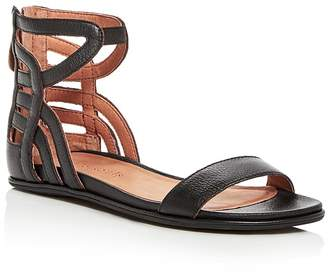 Kenneth Cole Gentle Souls Women's Larisa Leather Ankle Strap Demi Wedge Sandals