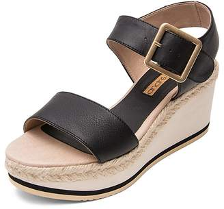 Andre Assous Women's Carmela Leather Platform Wedge Sandals