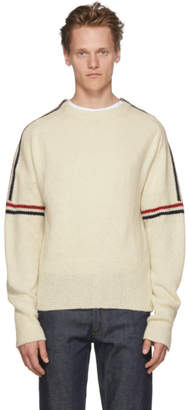 Thom Browne White Classic Crewneck Stripes Pullover