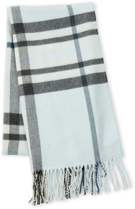 Fraas Plaid Fringe Scarf