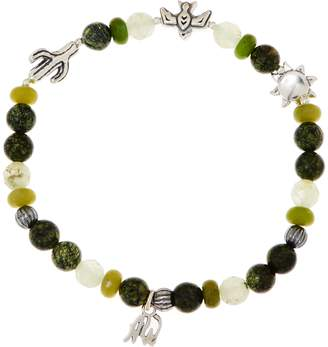 American West Gemstone & Charm Stretch Sterling Silver Bracelet