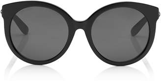 Jimmy Choo ASTAR Black Oversized Sunglasses with Star Stud Detailing