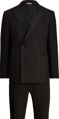 Ralph Lauren Satin-Trim Linen Tuxedo