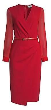Max Mara Women's Manuel Sheer Belted Dress - Size 0