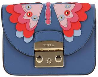 Furla Mini Bag Metropolis Handbag Papillon Mini Bag In Smooth Leather With A Maxi Patchwork Of A Butterfly