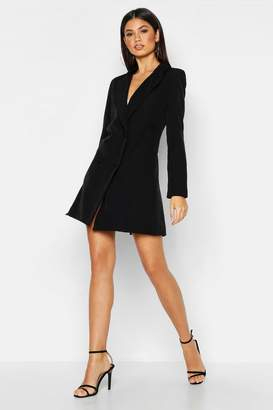 boohoo Woven Long Sleeve Cover Button Blazer Dress