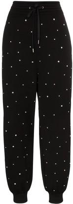Miu Miu crystal-embellished track pants
