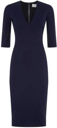 Victoria Beckham Button Sleeve Pencil Dress