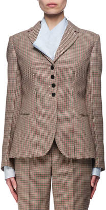 Stella McCartney Check Wool Blazer