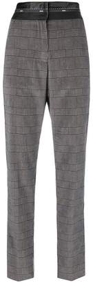 MSGM high waist checked trousers