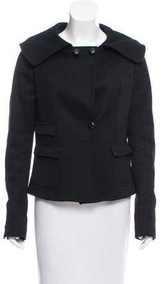 Neil Barrett Cashmere Button-Up Jacket