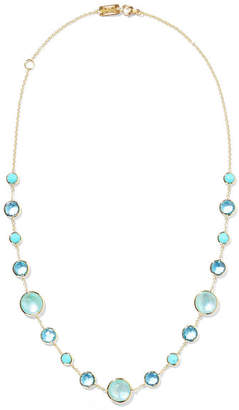 Ippolita Lollipop Lollitini 18-karat Gold, Topaz And Amazonite Necklace