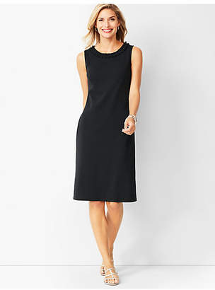 Talbots Cotton-Knit Shift Dress