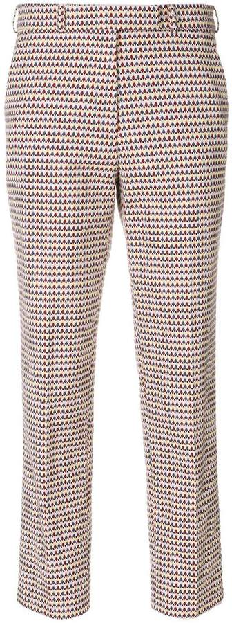 Etro embroidered pattern cropped trousers