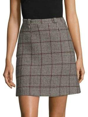 Carven Plaid Mini Skirt