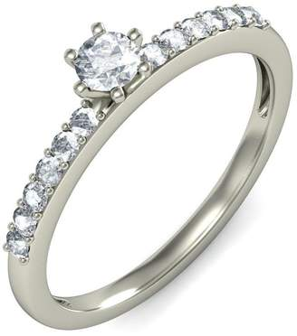 JeenJewels 0.50 Carat Discount Diamond Engagement Ring with Round cut Diamond on 14K White gold