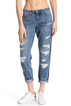 Blank NYC BLANKNYC Denim Contrast Panel Distressed Jeans