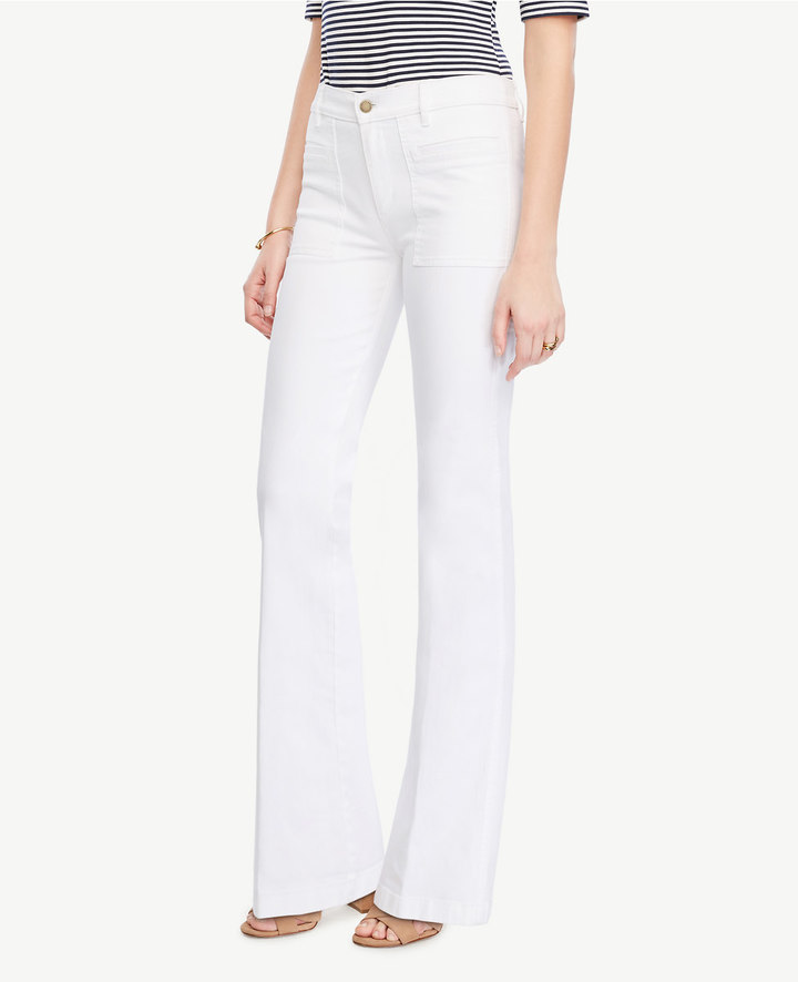 Ann TaylorPatch Pocket Flare Jeans