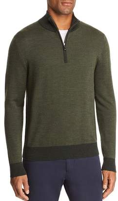 Brooks Brothers Birdseye Half Zip Sweater