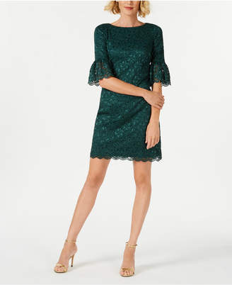 Jessica Howard Petite Lace Bell-Sleeve Dress