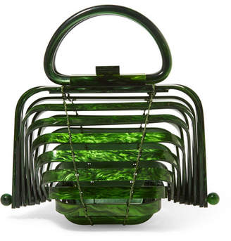 Cult Gaia Lilleth Mini Collapsible Acrylic Tote - Green