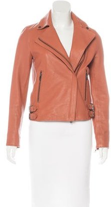 Reiss Leather Biker Jacket $330 thestylecure.com