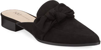 Charles David Eager Microsuede Bow Mules