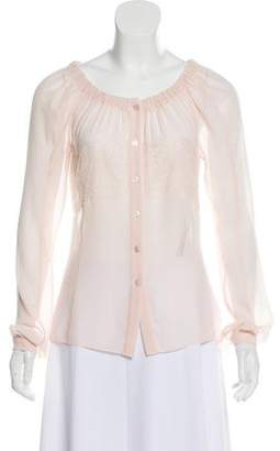 Nina Ricci Long Sleeve Button-Up Blouse w/ Tags