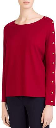 Gerard Darel Button-Sleeve Tee